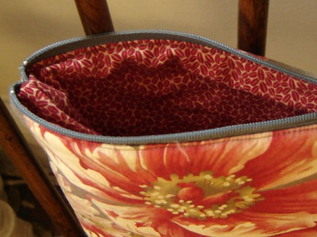 Makeup bag from (mostly) sewn