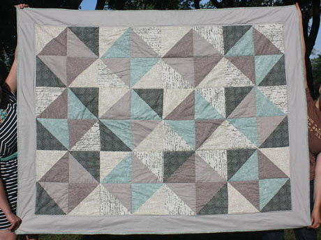 Quilt from (mostly) sewn