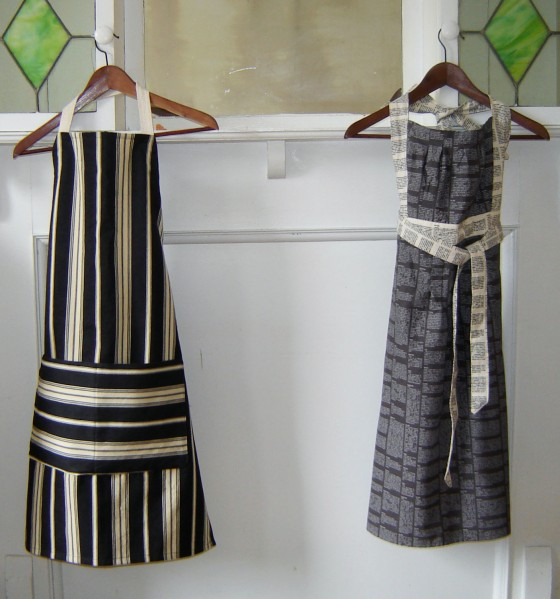 Aprons from (mostly) sewn